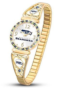 What time is it?  When the Seahawks are playing, it's time to win!  You'll love checking the time in this gorgeous officially-licensed Seattle Seahawks ladies watch - available online only.