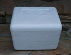 Step-by-step tutorial for making an upholstered ottoman from a sturdy styrofoam cooler
