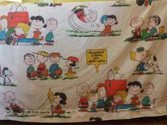 Vintage 1971 Peanuts Gang/Charlie Brown TWO Flat sheets by HemmerHomeGoods, $15.00