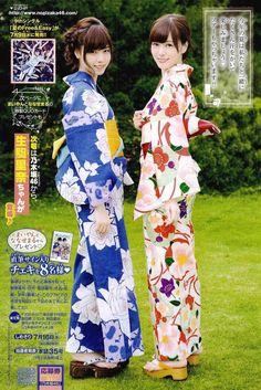 two girls in yukata- summer kimono