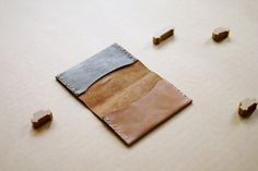 Foldover Cardholder handstitched minimal leather by smallqueue