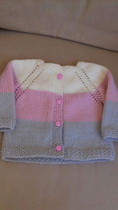 Stricken Anleitung :Ravelry: & # s Girly Baby Knitting Patterns, Baby Sweater Patterns, Baby Cardigan Knitting Pattern, Crochet Baby Cardigan, Knit Baby Sweaters, Crochet Jacket, Knitting For Kids, Girls Sweaters, Baby Patterns