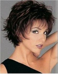 Fancy short mixed color hair lady's full wig + gift