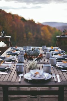 Rustic fall tabletop