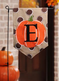 Let everyone know how excited you are for fall with a yard flag! These Polka Dot Pumpkin Monogram Flags are fun, adorable and festive all in one. Place it in your front yard and wear your love for autumn on your sleeve.