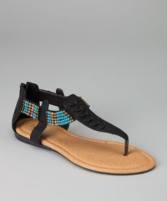 Take a look at this Black Kiki-06 Sandal by Refresh on #zulily today!