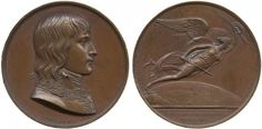 "Napoleon, Battle of Montenotte, 1796. Bronze Medal. By Gayrard, Jeuffroy and Denon. ""BATAILLE DE MONTENOTTE / MDCCXCVI."". 40mm."