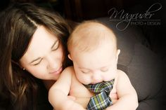 Photo prop idea - Baby with tie. 6 month baby photography