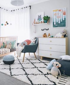 "Oh @oh.eight.oh.nine you set our hearts a flutter everytime with Chet's room! Featuring some of our favourite pieces from so many stunning stores, including our favourite Michelle Carlslund ""Forest"" and ""Bee Keeping Bear"" prints. Tap to see where all these other hand picked pieces in Chet's room are from. Room Styling and Photography by @oh.eight.oh.nine #michellecarlslund #michellecarlslundillustration #boysroom #roomlove #growingfootprints #bloomingvillemini #luckyboysunday"
