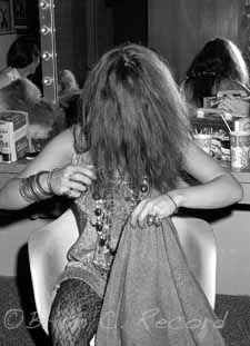 Janis Joplin, Combing Hair, Dressing Room, Lagoon, 1968