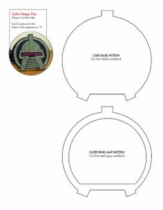 Paper Crafts for Him Cylon pattern