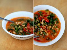 tomato and white bean soup with quinoa (or rice or millet or barley or faro or small pasta, etc.)
