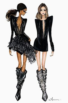 allblackeverything and the boots that broke the internet. Saint Laurent fall 2017 #pfw @ysl by @anumt| anumt.etsy.com| Be Inspirational ❥|Mz. Manerz: Being well dressed is a beautiful form of confidence, happiness & politeness