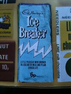 Cadbury's Ice Breaker #cadbury's #chocolate #sweets #1970s Childhood Images, 1970s Childhood, My Childhood Memories, Sweet Memories, Old Sweets, Vintage Sweets, Retro Sweets, Retro Chocolate Bars, Chocolate Sweets