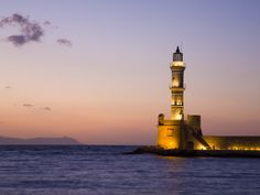 Venetian Lighthouse at Entrance to Hania Harbour  Gareth McCormack