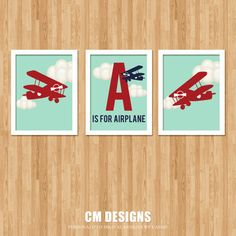Airplane Nursery Art