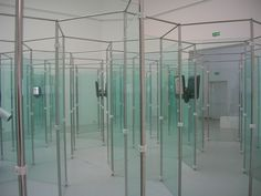 Biennale di Venezia 2007 by daffi_it, via Flickr  A media maze constructed of glass panels (rather than the more normal mirrors). The hexagonal forms are interesting.