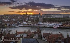 Whitby – Sunset Over The Roof Tops