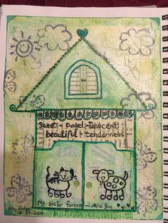 SPLAT PAINT - ART Journaling: Art Journaling:  My Sister Forever - I Miss You - ...