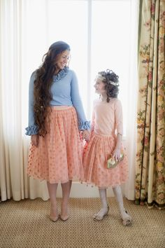 The Polka Dot Tutu in Rose Pink is available in women's sizes S-3X and girls' sizes 2-16. Bridesmaid dresses, modest styles for special occasions, ruffles, and lace at www.daintyjewells.com.