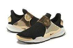 New release Fragment x Nike Sock Dart gold-black sneaker Nike Shoes Cheap, Cheap Nike, Sock Dart, Psg, Black Gold, Kicks, Slip On, Unique, Sneakers