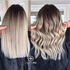 Are you going to balayage hair for the first time and know nothing about this technique? We've gathered everything you need to know about balayage, check! Blonde Roots, Balayage Hair Blonde, Brown Blonde Hair, Wavy Hair, Dyed Hair, Haircolor, Blonde Ombre Hair Medium, Blonde Hair With Dark Roots, Blonde Hair Types