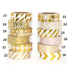 Cheap tape dots, Buy Quality decorative washi tape directly from China washi tape Suppliers: High quality Gold foil paper tape dot,strip,pineapple,heart Christmas decorative washi tape Gold Foil Paper, Paper Tape, Tapas, Cute School Supplies, Office And School Supplies, Making Tape, My Planner Colibri, Planner Bullet Journal, Diy Sticker