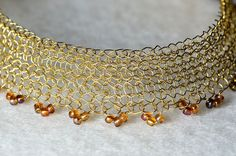 wire crochet bridal choker necklace | Flickr - Photo Sharing!