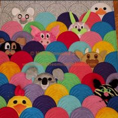 Look at this splendid photo - what an innovative style Quilt Baby, Baby Quilt Patterns, Cute Quilts, Boy Quilts, Quilting Projects, Quilting Designs, Panda Quilt, Clamshell Quilt, Circle Quilts