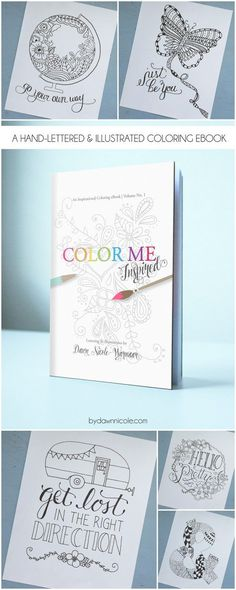 Color Me Inspired: An Inspirational Adult Coloring Page eBook. 5 Star reviews and over 2k copies sold to date! |