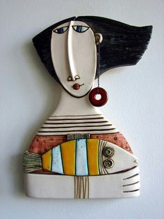 CERAMIC GIRL WITH FISH