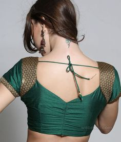 Beautiful, Brilliant Saree #Choli blouse in green and gold @webneel via @sunjayjk