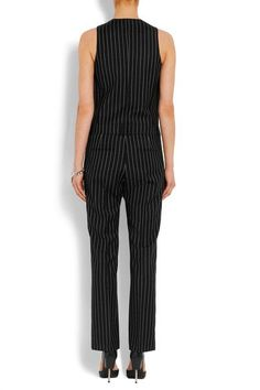 Givenchy - Straight-leg Jumpsuit In Black And White Striped Wool-jacquard - FR40