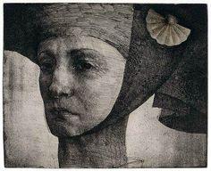 Donna 2006, etching by Marina Richterova