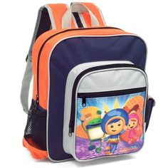 Team Umizoomi Backpack by Nickelodeon. $14.99. Make math fabulous for your preschooler every day with this official Team Umizoomi backpack by Nickelodeon.  Backpack includes a large main compartment for easy access with one opened side mesh pocket and one Velcro side pocket.  Help your little one build a positive attitude about math and channel his or her inner math powers!  Problem Solved!On Team Umizoomi, kids learn to solve everyday math problems with a little ...