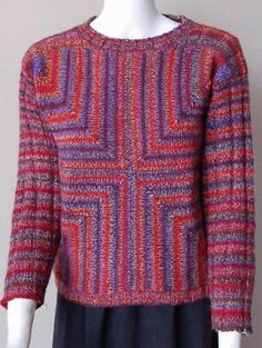 Ravelry: Taos Four Square Mitered Pullover pattern by Gail Tanquary