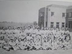 Land Girls in training.