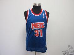 Vtg 90s Champion New Jersey Nets Obannon Basketball Jersey sz 44 NBA Brooklyn #Champion #NewJerseyNets #tcpkickz