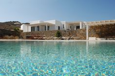 Enjoy luxury villa rental in Mykonos by booking this amazing private villa Crysiis! Unique Architecture, Landscape Architecture, Mykonos Town, Mykonos Greece, Open Living Area, Luxury Villa Rentals, Luxury Holidays, Private Pool, Swimming Pools