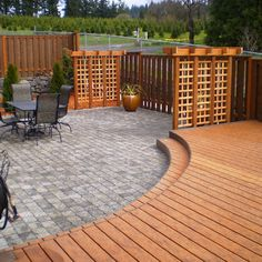 Patio Pavers Design, Pictures, from steve...I liked how the wood deck extended into the photo...you could walk out the door and move toward the rear...leaving the left side open for a pvt yard
