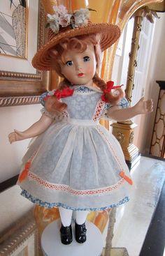 "NM Vintage 1948 Madame Alexander Hard Plastic ""McGuffey Ana"" Margaret Face Doll"