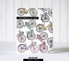 Create a simple and beautiful scene card with this set! The bicycle measures approximately x inches at its widest points. Bicycle Cards, Beautiful Day, This Is Us, Scene, Stamp, Create, Simple, Floral, How To Make