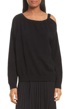 In love with this cold shoulder sweater of Vince