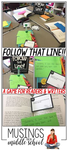 Follow That Line is a crazy fun card game your students can play with their favorite reading material. Using any text of your choice, players will need to select a line or lines from their reading that they think best follows the opening line the judge reads from the card he plays. If the judge picks that player's line, s/he get to keep the card and win the round. The player with the most cards at the end of the game wins!