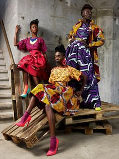 African fashion via Tumblr...