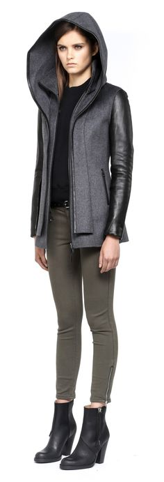 Mackage Edith jacket does something really cool with its hood/collar layers.