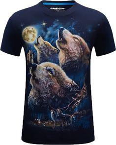 d6790a59 11 Best Wolf Shirts images | Printed shirts, Printed tees, 3d t shirts