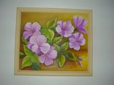 Resultado de imagen para flores em tela