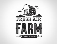Fresh Air Farm Logo by Whiskey Design, via Flickr
