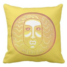 Medusa Coin cotton throw pillow - home gifts ideas decor special unique custom individual customized individualized